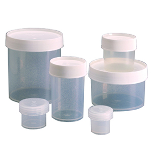NALGENE直身广口罐,聚丙烯,白色聚丙烯螺旋盖,15ml