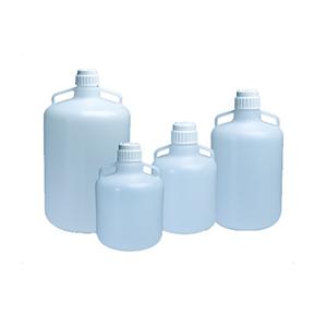 NALGENE细口大瓶(带手柄),低密度聚乙烯;白色聚丙烯螺旋盖,25L容量