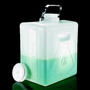 NALGENE矩形细口大瓶(带放水口),聚碳酸酯;聚丙烯放水口和螺旋盖,20L容量