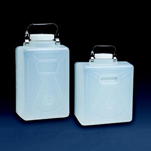 NALGENE可高温高压灭菌的矩形细口大瓶,聚丙烯;聚丙烯螺旋盖,20L容量