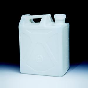 NALGENE可叠放矩形细口大瓶,HDPE;高密度聚乙烯,白色聚乙烯盖,20L容量