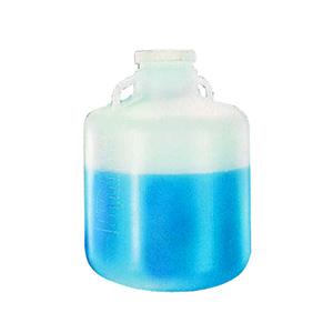 NALGENE广口大瓶(带手柄),低密度聚乙烯;白色聚丙烯螺旋盖,15L容量