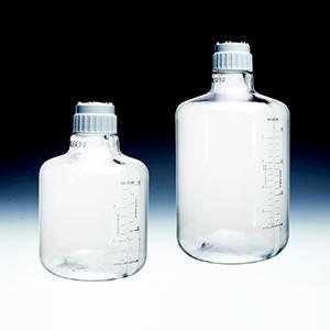 NALGENEClearboyTM,细口大瓶,聚碳酸酯,白色聚丙烯螺旋盖,TPE垫圈,10L容量