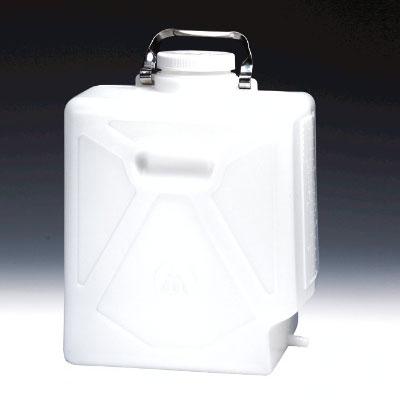 NALGENE矩形细口大瓶(带排水小管),高密度聚乙烯;聚丙烯螺旋盖,20L容量