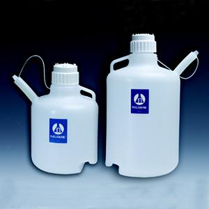 NALGENE安全分液大壶,低密度聚乙烯,白色聚丙烯螺旋盖,10L容量