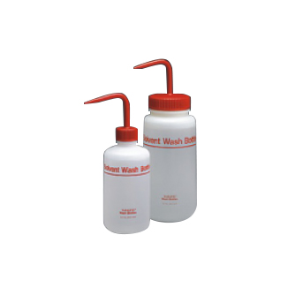 NALGENE氟化溶剂洗瓶,氟化高密度聚乙烯;红色氟化聚丙烯盖/杆;聚丙烯吸管,500ml容量