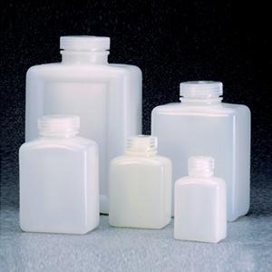 NALGENE矩形瓶,高密度聚乙烯,1000ml容量