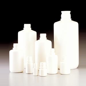 不透明白色窄口瓶,125 ml,HDPE,无盖