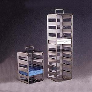 NALGENE垂直冻存盒架,不锈钢,搁板数9