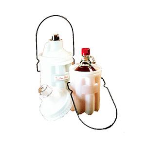 NALGENE安全试剂瓶搬运篮,低密度聚乙烯;聚碳酸酯盖;环氧树脂涂层手柄,2.5L容量