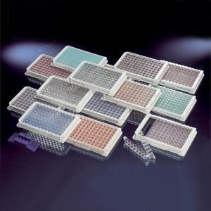 Nunc-ImmunoTM板条,带框,每框96孔,Maxisorp表面,聚苯乙烯,外部尺寸:128*86mm,规格,C8,绿色