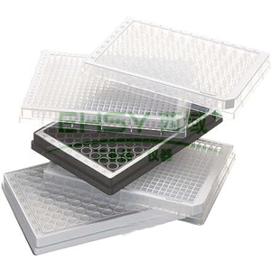 96孔/V型底-PP微孔板,无色孔井,白色边框,PCR洁净级,80块 (5x16块)