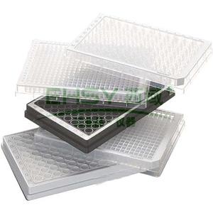 96孔/V型底-PP微孔板,黑色孔井,白色边框,PCR洁净级,80块 (5x16块)