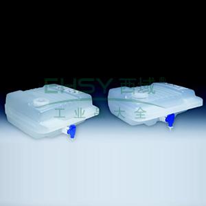 NALGENE可高温高压灭菌的LowboysTM,聚丙烯,聚丙烯放水口和螺旋盖,15L容量