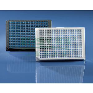 BRANDplates® 微孔板,384孔,cellGrade™plus,PS材质,黑色,底透,灭菌,50个/包