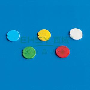 BRAND彩色管盖插片,PP材质,适用于细胞冻存管管盖,黄色,500个/包