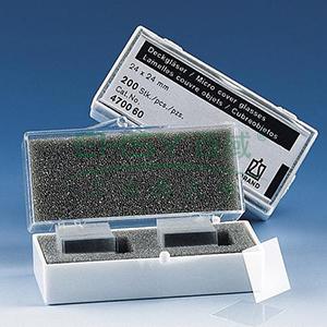 BRAND盖玻片,厚度1号 20*20mm,正方形,2000个/箱