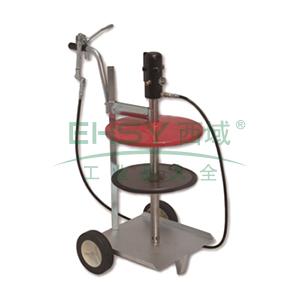 MATO 3412517 55:1可移动黄油泵组套,用于25kg油桶,桶内径300-335mm,带加注枪