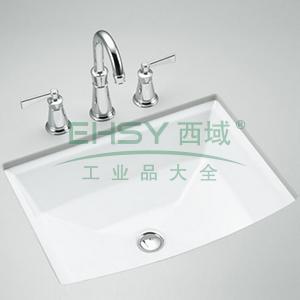 科勒/KOHLER K-2355T-0 雅琦台下脸盆浴室台盆