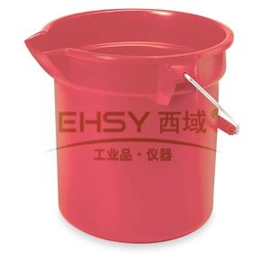 乐柏美BRUTE 圆形桶,红色,13L