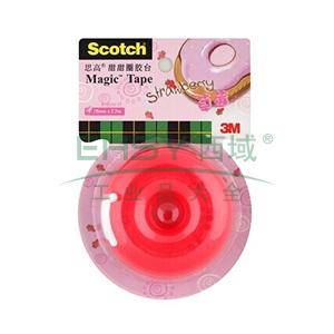 3M Scotch®胶带座,思高甜甜圈胶台 (草莓)