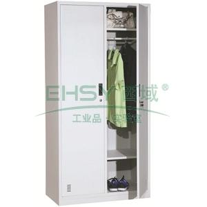 臻远 两门更衣柜,900*500*1800 ,灰白色,钢板厚度为0.7mm