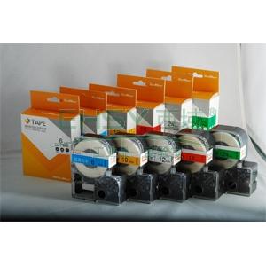 威码覆膜聚酯标签带,黑底白字 10mm×8m