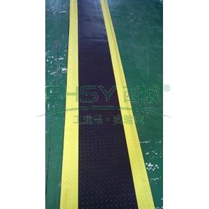 防静电抗疲劳地垫,3层PVC材质 600mm*800mm*15mm黑+黄边