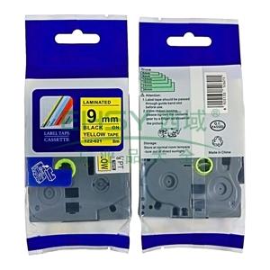 标签色带,黄底黑字TZ2-621宽度9mm 适用于兄弟TZ系列标签机