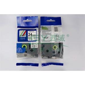 标签色带,白底黑字TZ2-251宽度24mm 适用于兄弟TZ系列标签机