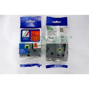 标签色带,红底黑字TZ2-451宽度24mm 适用于兄弟TZ系列标签机
