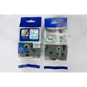 标签色带,白底蓝字TZ2-253宽度24mm 适用于兄弟TZ系列标签机
