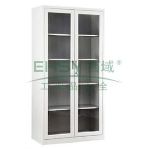 通玻开门柜,800宽*400深*1840高,灰白色,0.7mm厚度