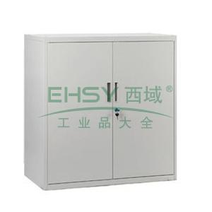 开门矮柜,800宽*400深*750高,灰白色,0.7mm厚度