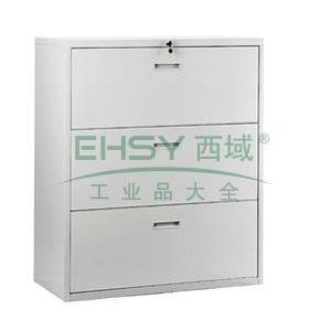 三斗理想柜,900宽*400深*1090高,灰白色,0.7mm厚度