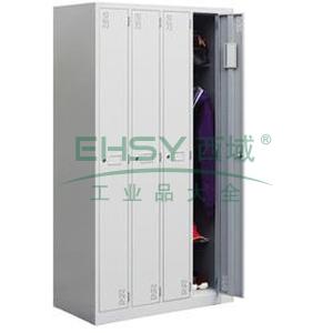 左右四门更衣柜,900宽*500深*1800高,灰白色,0.7mm厚度