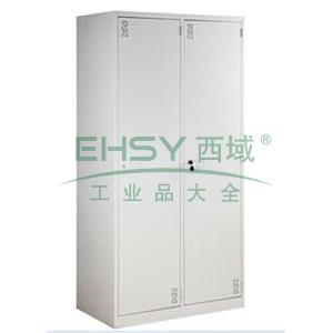 两门更衣柜,900宽*500深*1800高,灰白色,0.7mm厚度