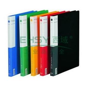 得力A48寸长押夹加插袋文件夹,颜色随机  5308