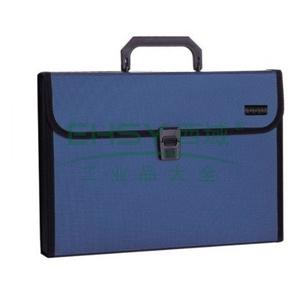 得力捆边手提式风琴包,颜色随机  5555