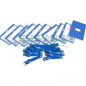 得力PP证件卡(横式),蓝色  10只/袋  5740