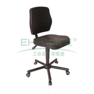 MEY工作椅, 黑色 高度调幅495-640mm 带刹车的硬地脚轮