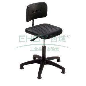 MEY工作椅, 黑色 高度调幅490-630mm 带椅脚套
