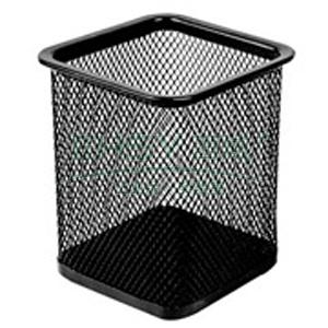 得力笔筒, 方形网状 9174(黑)96个/箱
