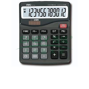 得力桌上型计算器,黑色  1210