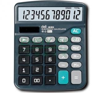 得力桌上型计算器,蓝色  1228