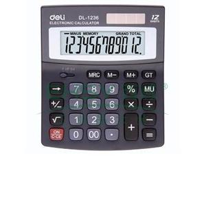 得力桌上型计算器,黑色  1236