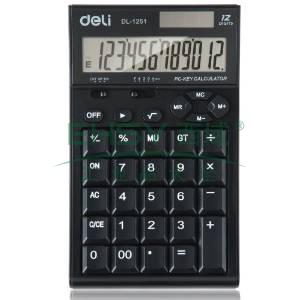得力桌上型计算器,颜色随机  1251
