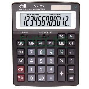 得力桌上型计算器,黑色  1253