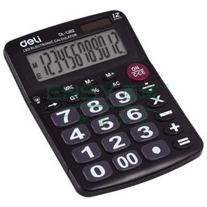 得力桌上型计算器,黑色  1262