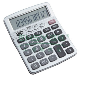得力语音型计算器,灰色  1268